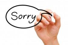 Sorry speech bubble